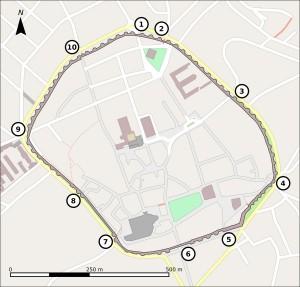 mapa puertas muralla lugo